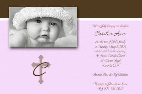 Baptism christening invites baby steps designs baby girl birth announcements baby boy birth announcements birthday invitations christmas cards stopboris Image collections